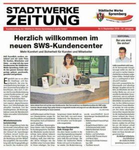 Neues SWS-Kundencenter in Spremberg Zeitungsausschnitt