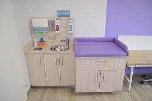 Untersuchungsplatz Kinderarzt