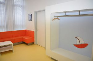 Garderobe Arztpraxis