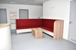 gepolsterte Sitzbank